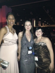 The 2013 RT Convention Ball. Left to right: Authors Elise Marion, Ranae Rose, and R.K. Ryals