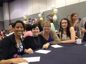 RT Convention in Kansas City, Missouri. From left to right: Authors Elise Marion, R.K. Ryals, Carly Fall, and Ranae Rose